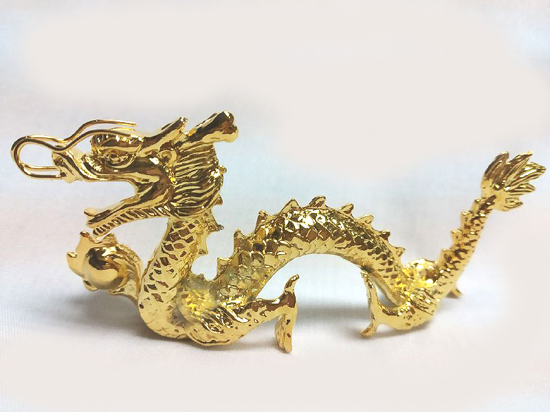 DKH056GP Gold Plated Pewter Figurines - Dragon (Male)