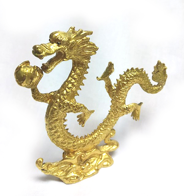 DKH057GP Gold Plated Pewter Figurines - Dragon