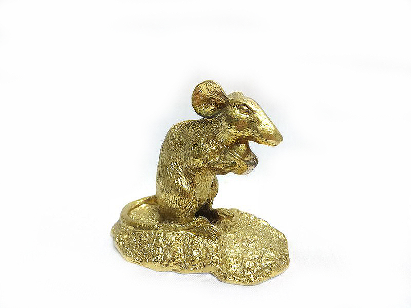 DKH060GP Gold Plated Pewter Figurines - Rat