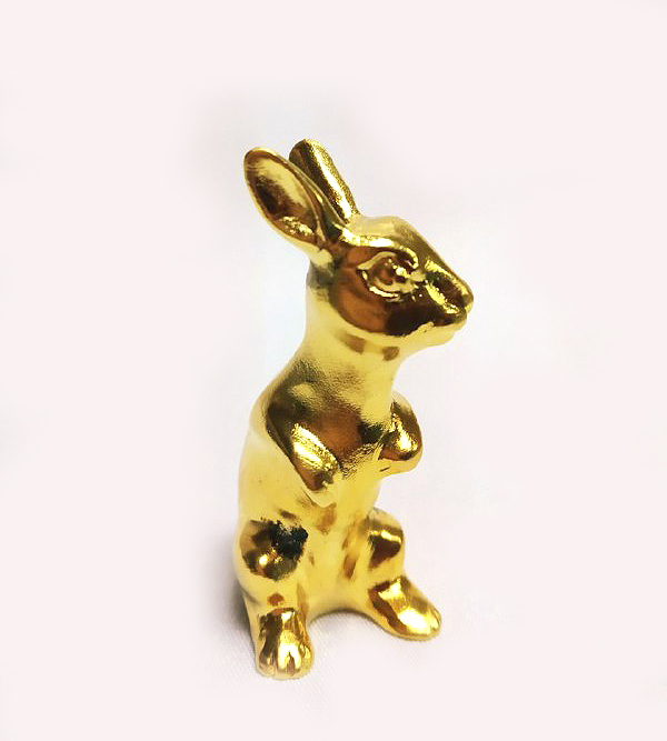 DKH063GP Gold Plated Pewter Figurines - Rabbit