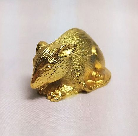 DKH067GP Gold Plated Pewter Figurines - Mouse