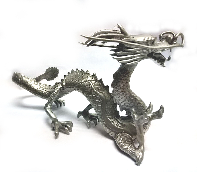 DKH079 Pewter Figurines - Dragon (Red Eyes - Decor)