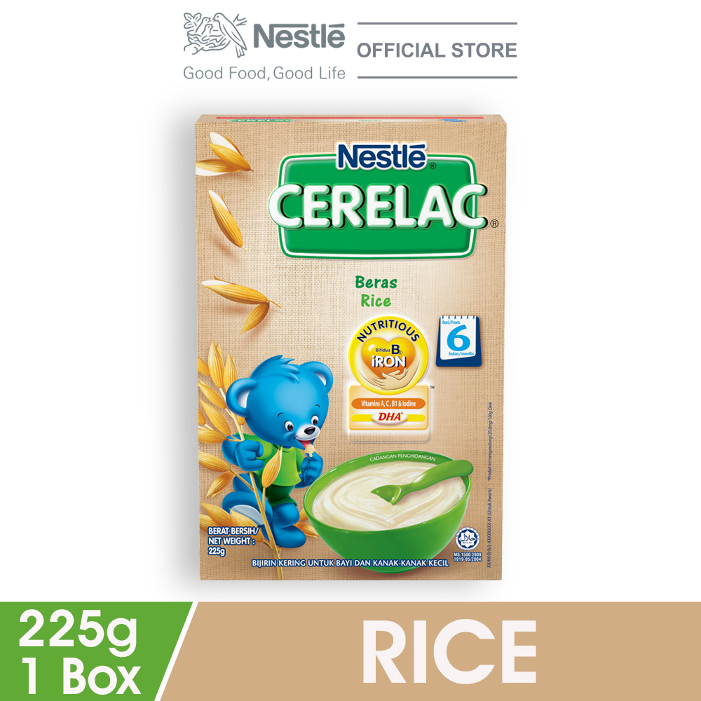 NESTLE CERELAC Rice Infant Cereal Box Pack 225g