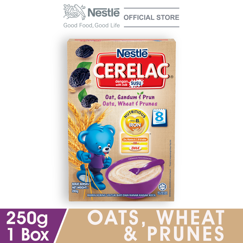 NESTLE CERELAC Oats, Wheat & PrunesInfant Cereal Box Pack 250g