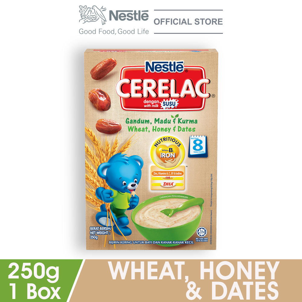 NESTLE CERELAC Wheat, Honey & Dates Infant Cereal Box Pack 250g