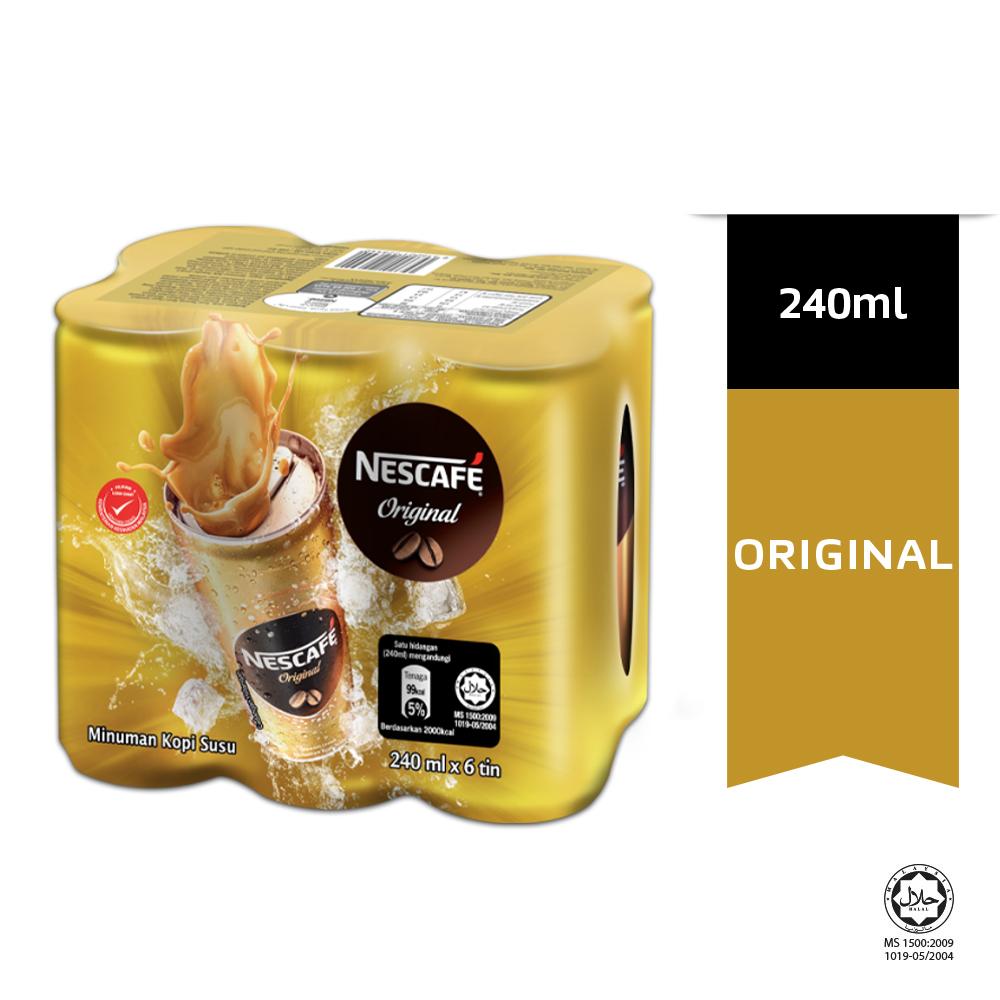 NESCAFE Original 6 Cans 240ml