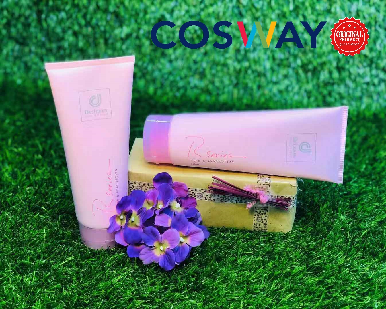 GS009- Cosway Designer Collection R Series Hand & Body Lotion - Gift Set 2in1 (Original Cosway)