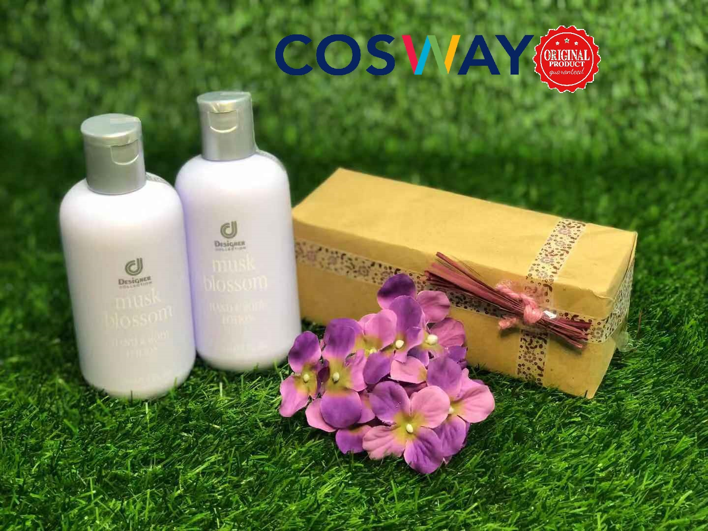 GS010- Cosway Designer Collection Musk Blossom Hand & Body Lotion  - Gift Set 2in1 (Original Cosway)