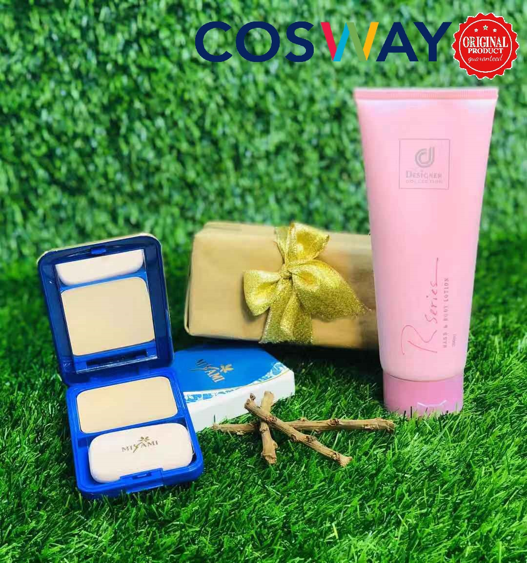 GS011-Cosway Designer Collection Body Lotion & Miyami Fundation - Gift Set 2in1 (Original Cosway)