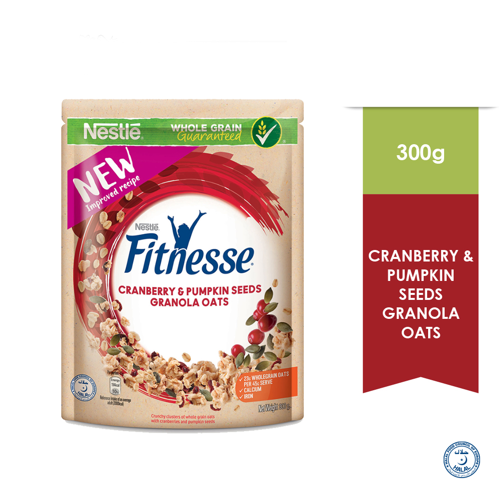 Nestle Fitnesse Granola Oats Cranberry & Pumpkin Seed 300g