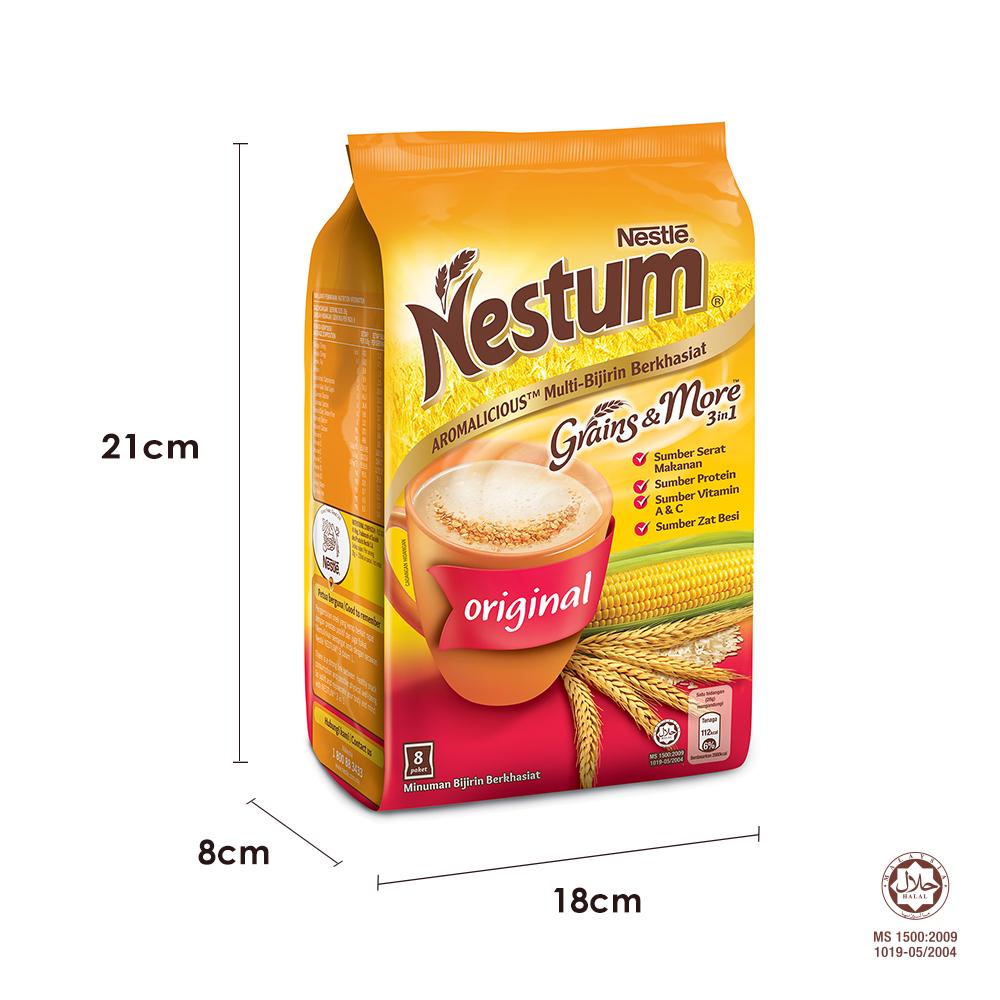 NESTLÉ NESTUM Grains & More 3in1 Original (8 Packets 28g)