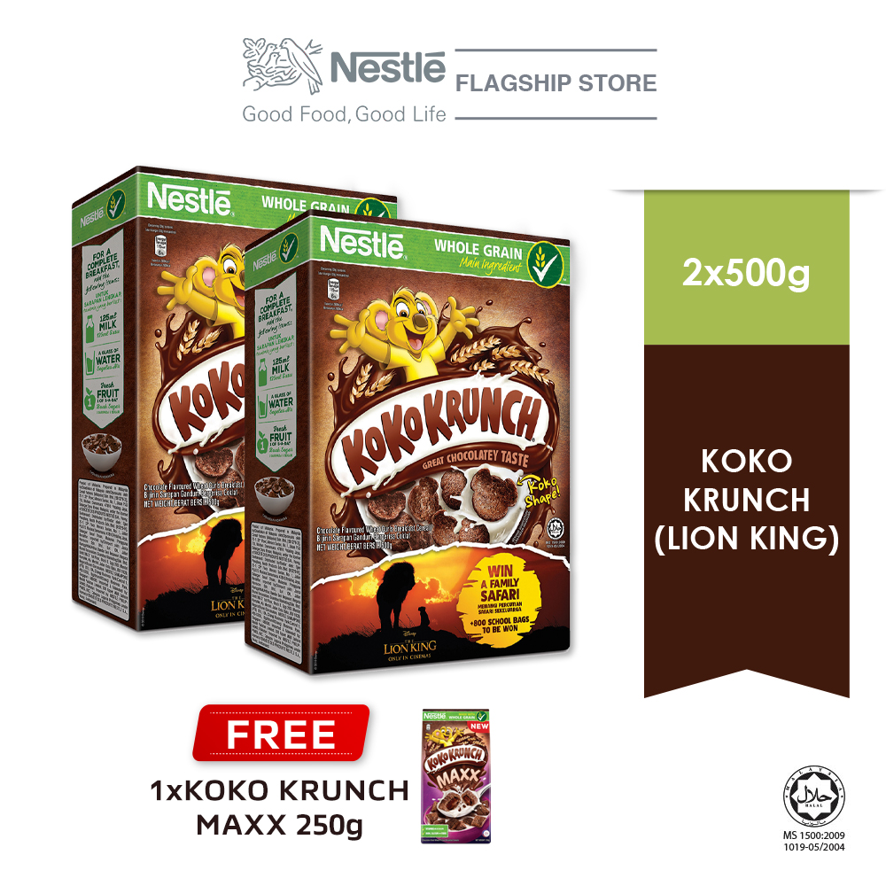 NESTLE KOKO KRUNCH Cereal Econopack 500g Buy 2 Free 1 KOKO Krunch Pillow 250g