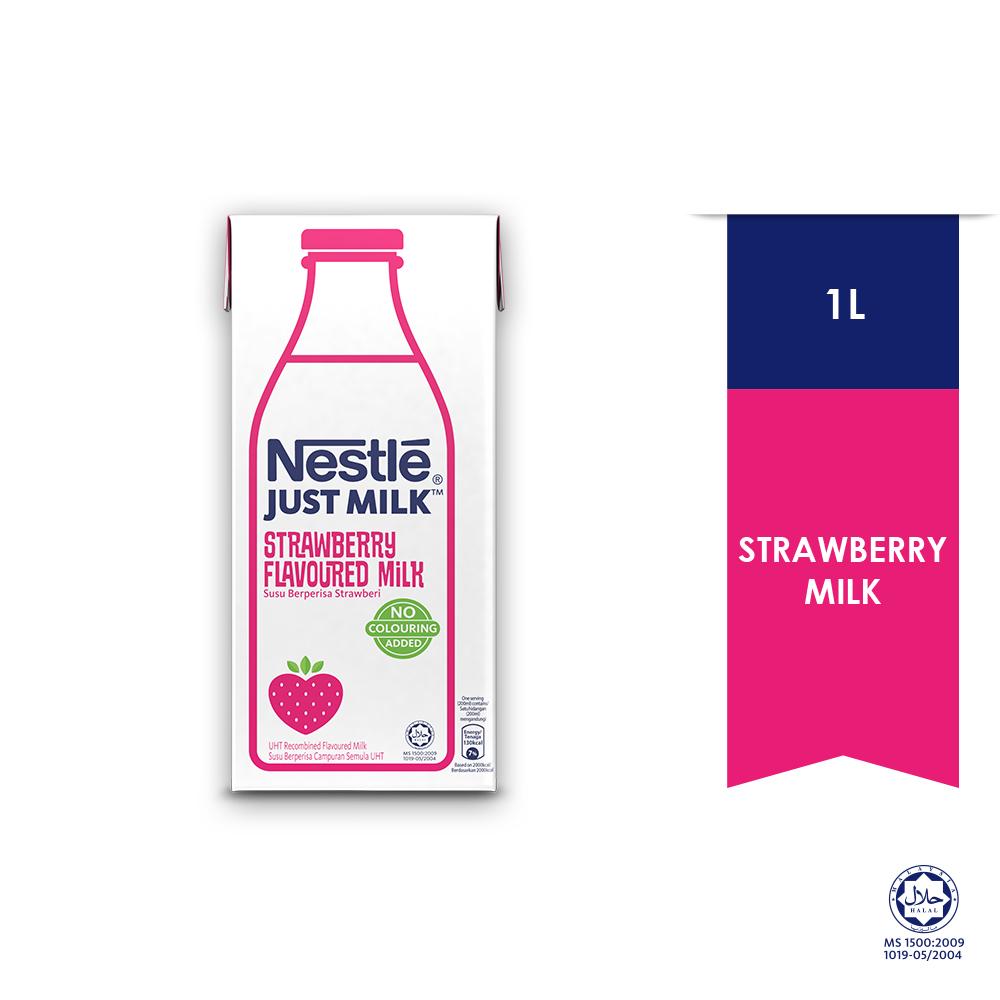 Nestle Just Milk Strawberry 1L