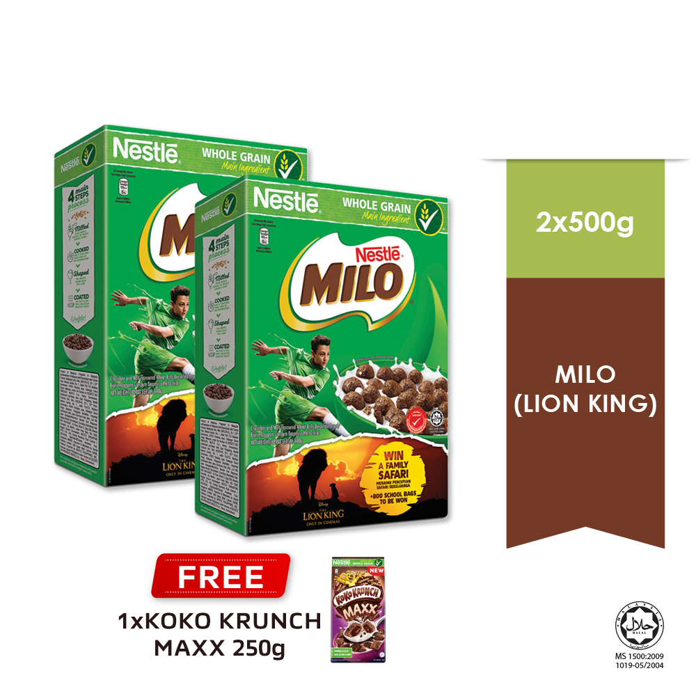 NESTLE MILO Breakfast Cereal Econopack 500g Buy 2 Free 1 KOKO Krunch Pillow 250g