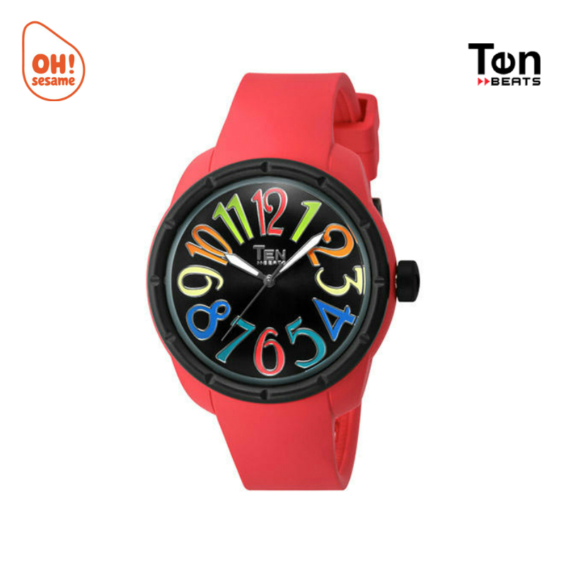 TEN BEATS Unisex Silicone Strap Watch (BF130201)