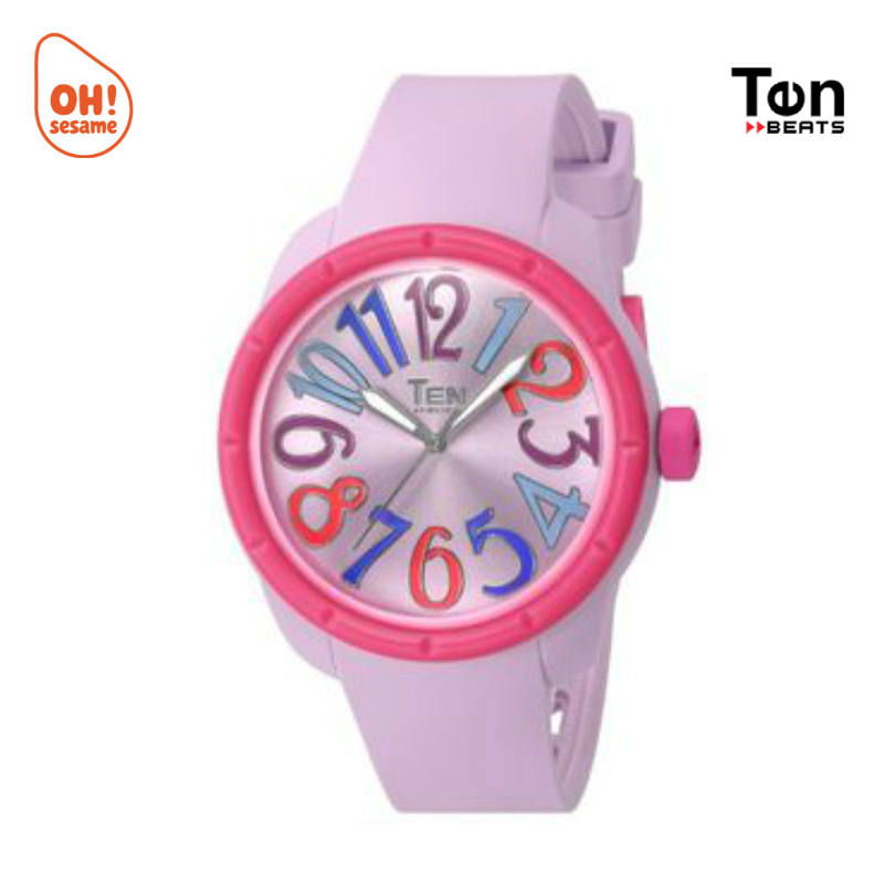 TENDENCE- TEN BEATS Unisex Silicone Strap Watch (BF130207-H)