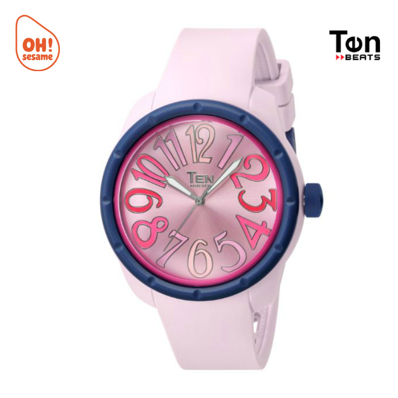 TENDENCE- TEN BEATS Unisex Silicone Strap Watch (BF130208-G)