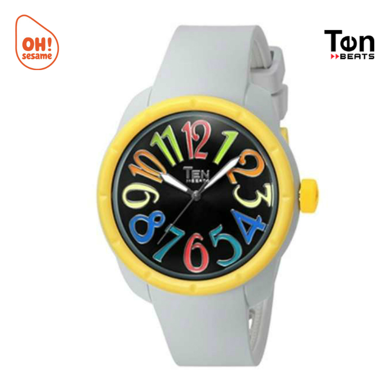 TENDENCE- TEN BEATS Unisex Silicone Strap Watch (BF130209-I)