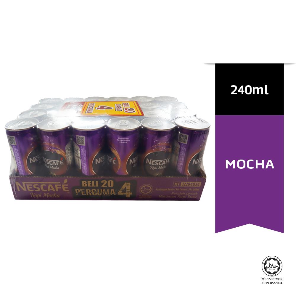 NESCAFE Mocha Can 24 x 240ml PR20+4