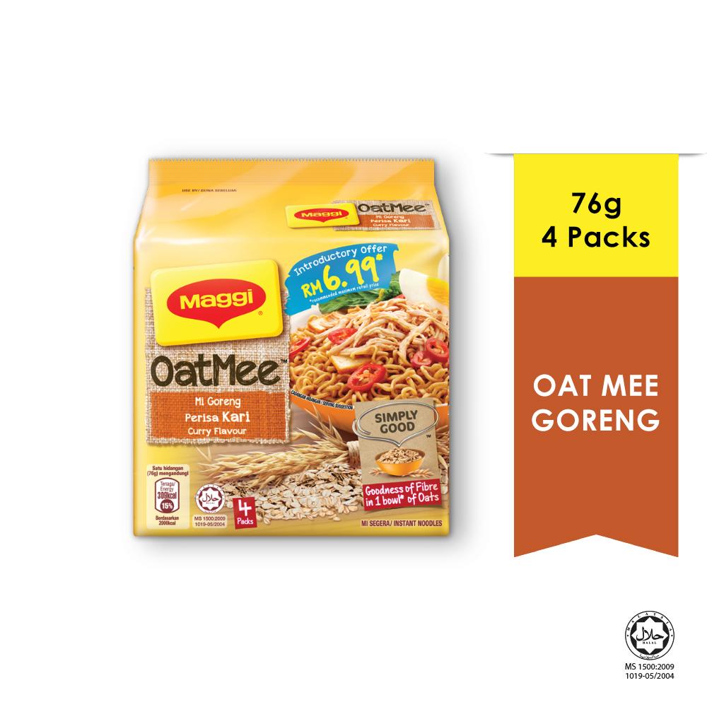 MAGGI Oat Mee Mi Goreng Curry 4 Packs 76g