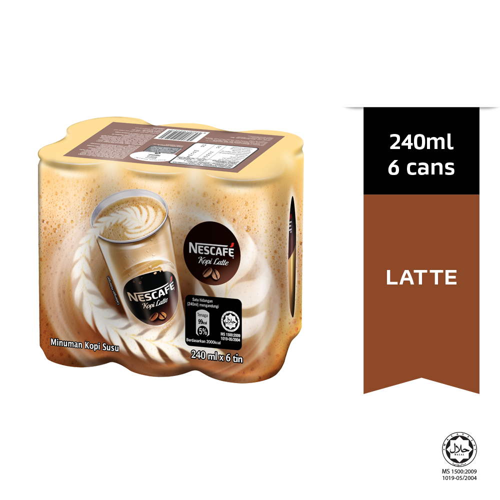 NESCAFE Latte 6 Cans 240ml