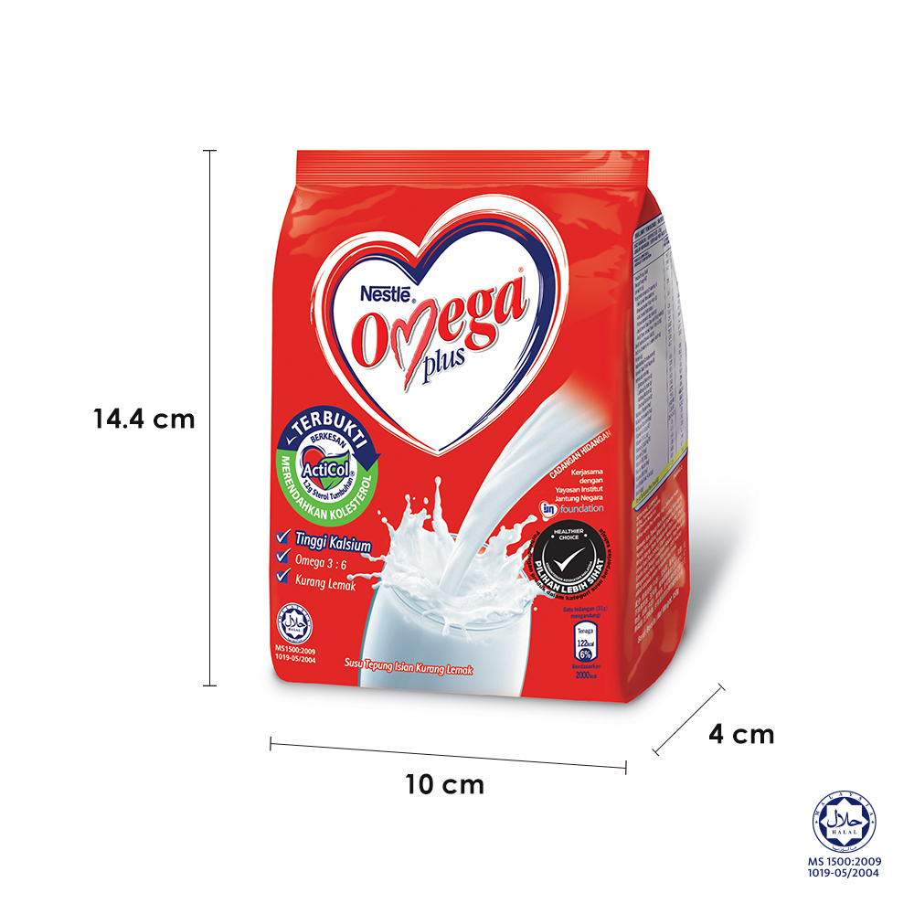 NESTLE OMEGA PLUS Milk Powder Softpack 150g bundle of 2 ExpDate:FEB21