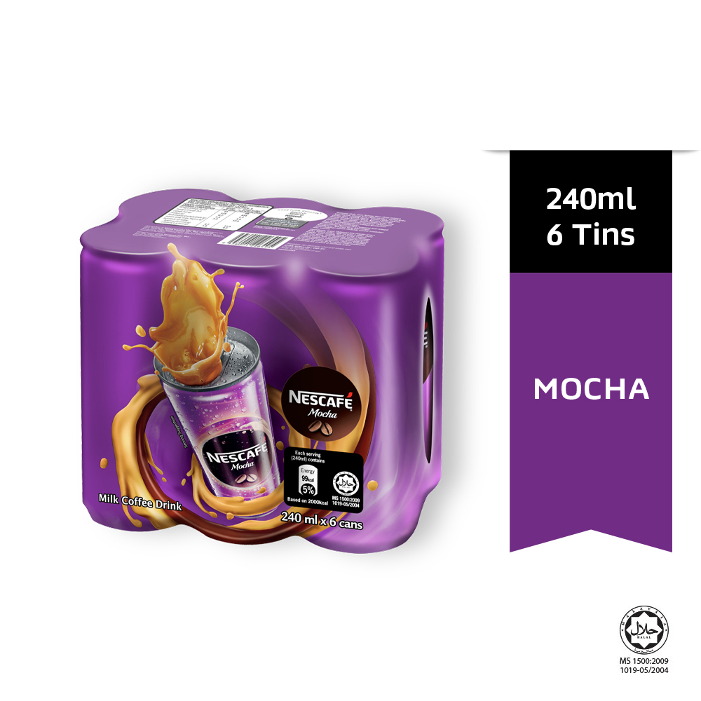 NESCAFE Mocha 6 Cans 240ml