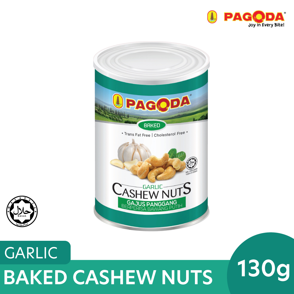 Pagoda Baked Cashew Nuts Garlic 130g