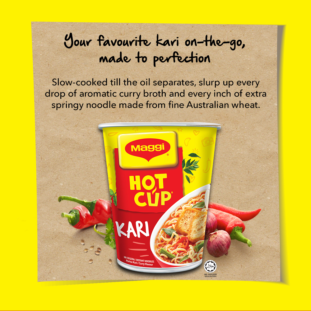 MAGGI Hot Cup Curry (6 cups x 2) ExpDate:Jun21