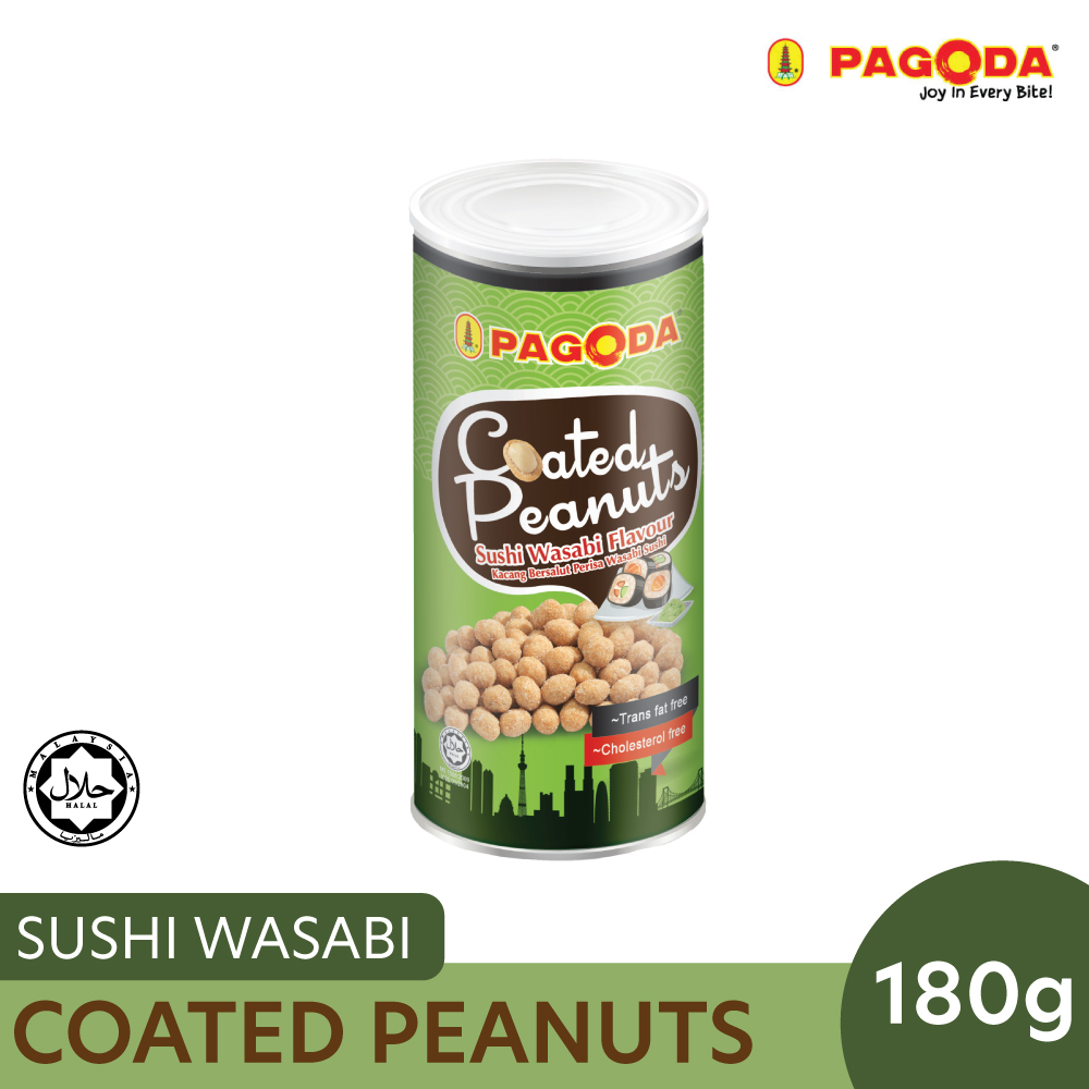 Pagoda Coated Peanut Sushi Wasabi 180g