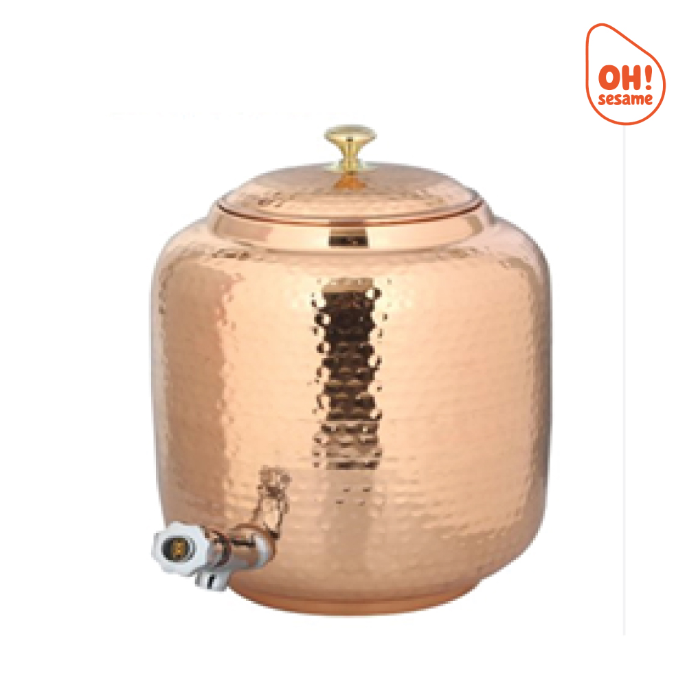 Hammered Copper Water Container (8 Liter)