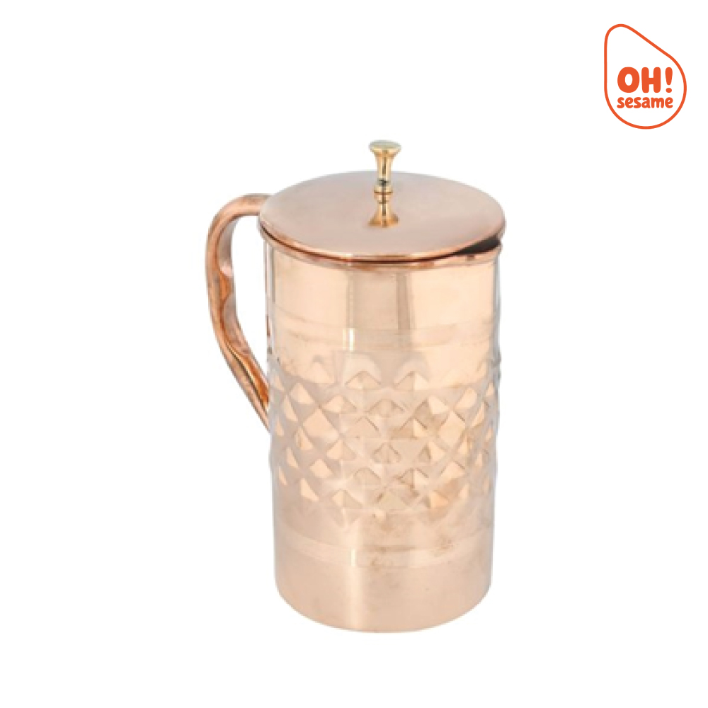 Pure Copper Jug with Lid (2.2 Liter)