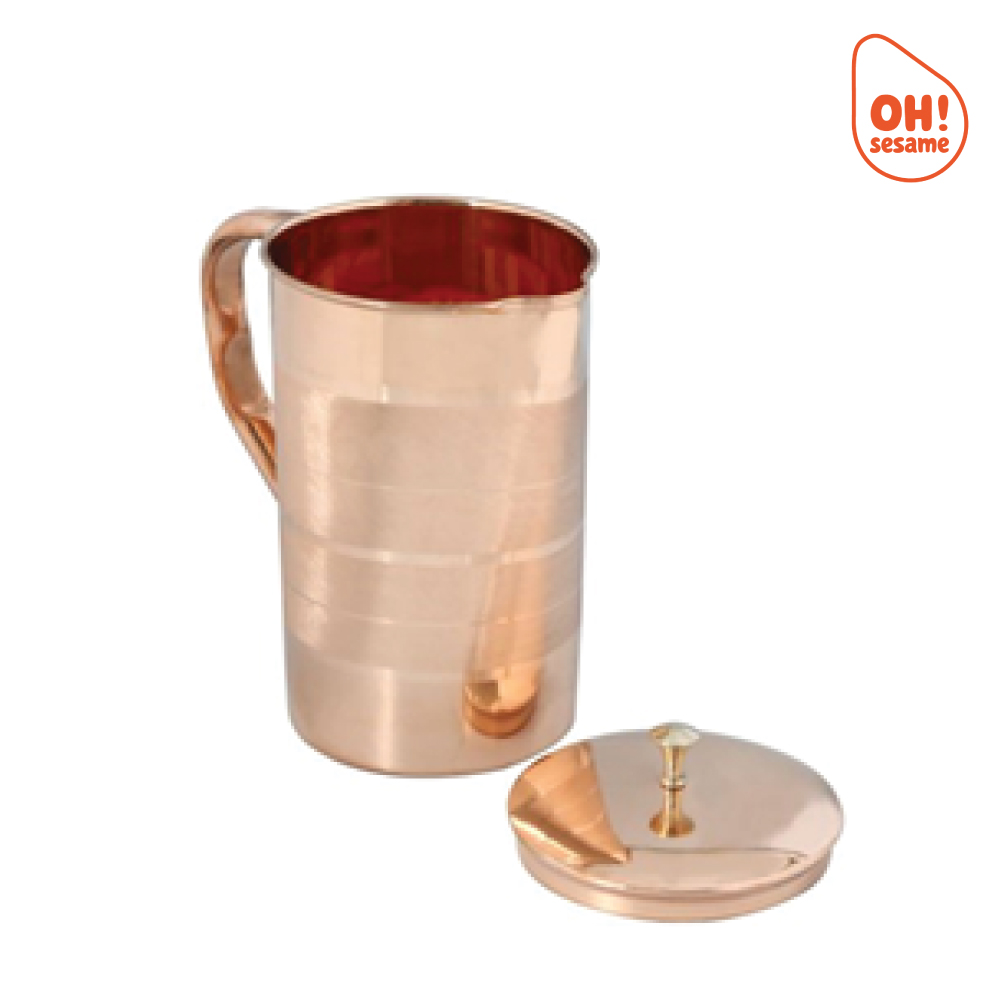 Pure Copper Jug with Lid (1.6 Liter)