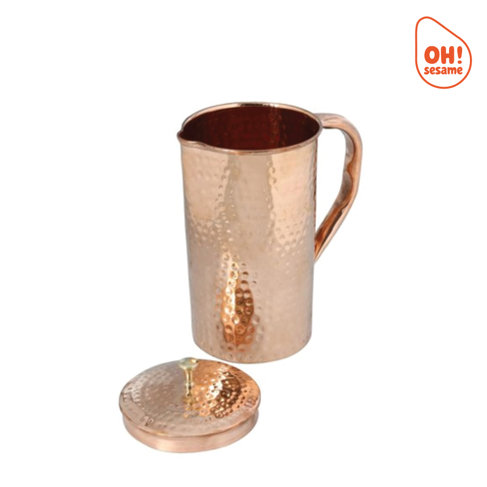 Pure Copper Jug with Lid