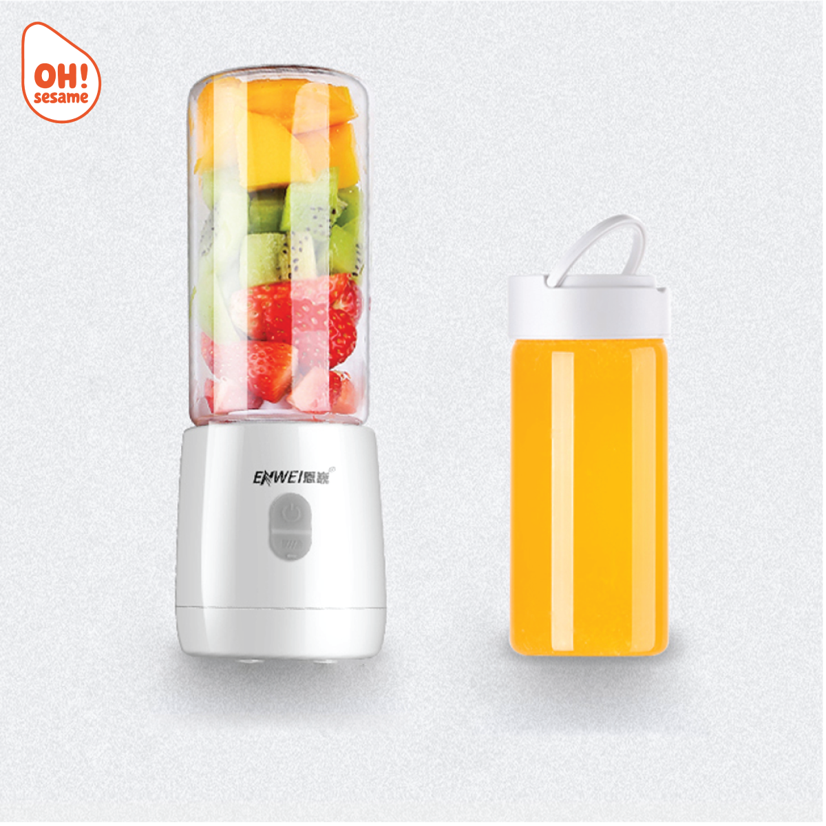 Rechargeable Cordless Portable Electric 6 Blades Glass Fruit Juice Blender 400ml