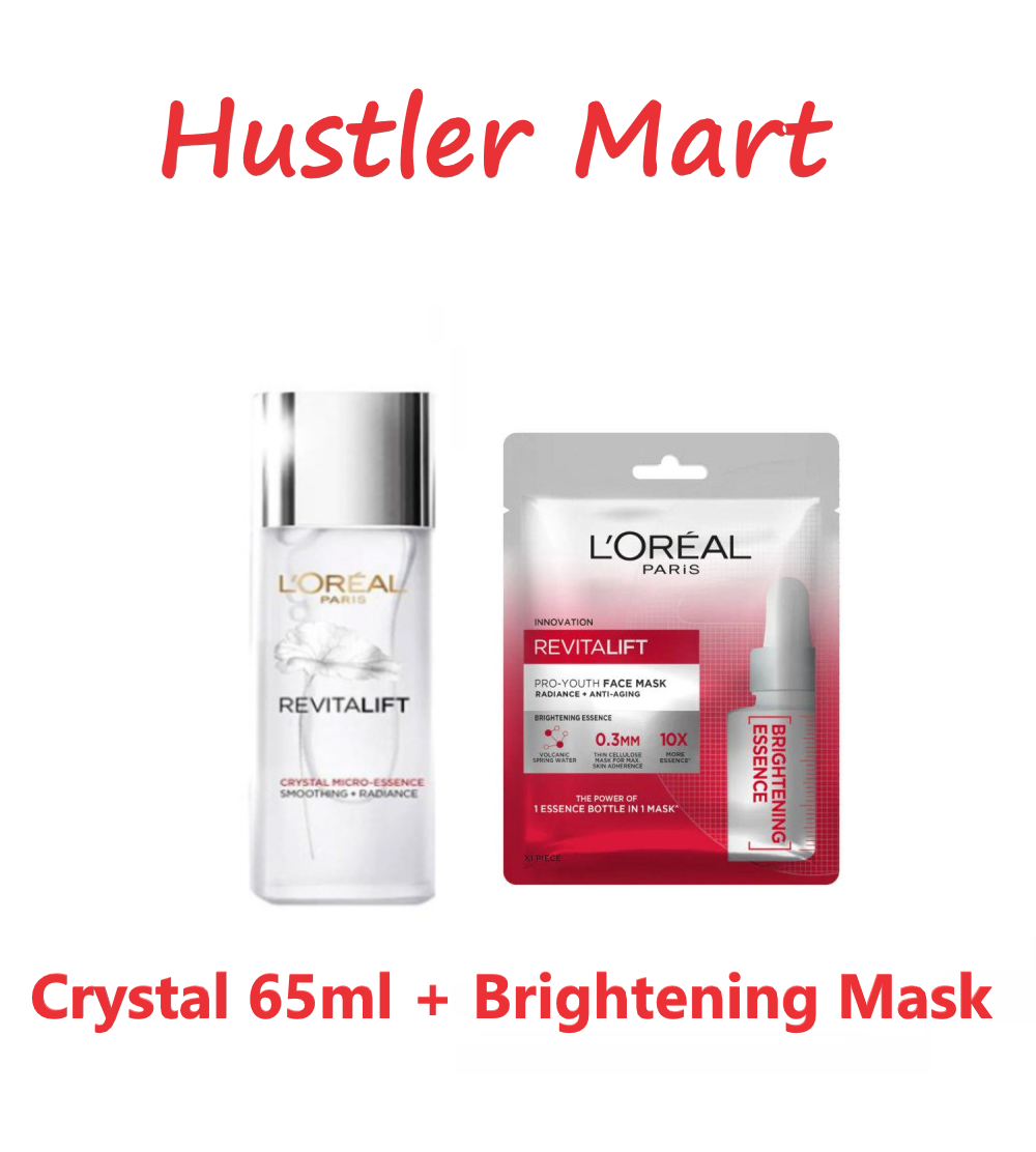 LOreal Paris Revitalift Crystal Micro Essence 65ml (FREE Revitalift Essence Brightening Face Mask)