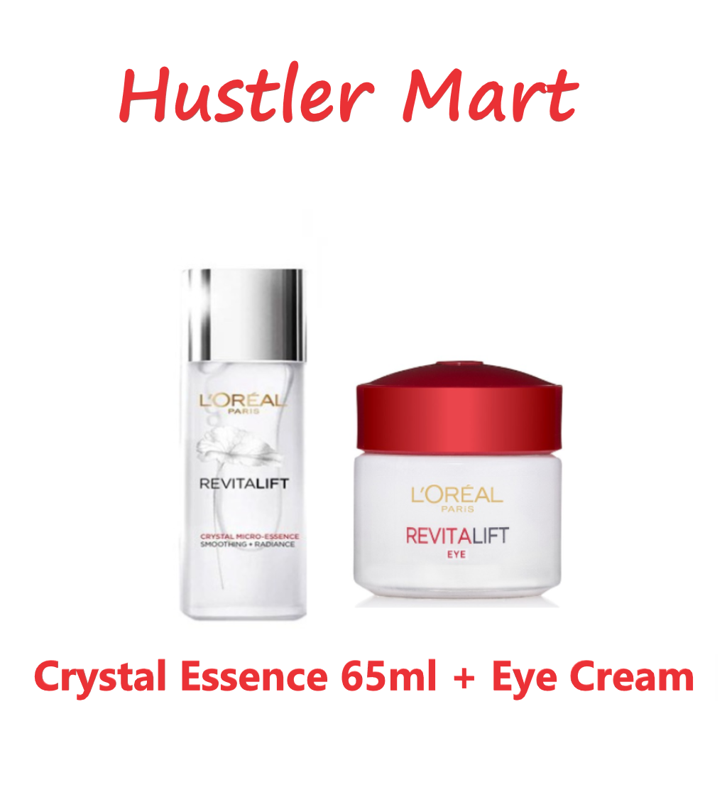 LOreal Paris Revitalift Crystal Micro Essence 65ml + Eye Cream