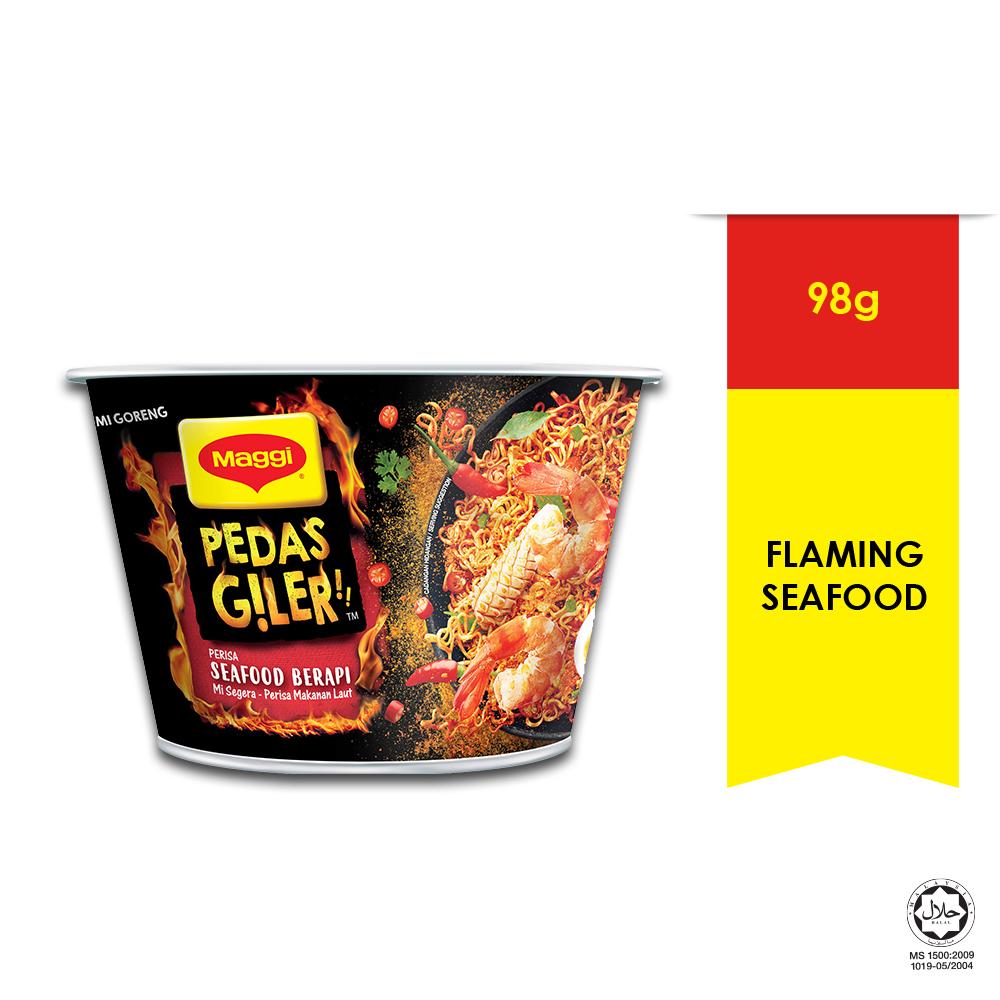 MAGGI Pedas Giler Perisa Seafood Berapi 98g