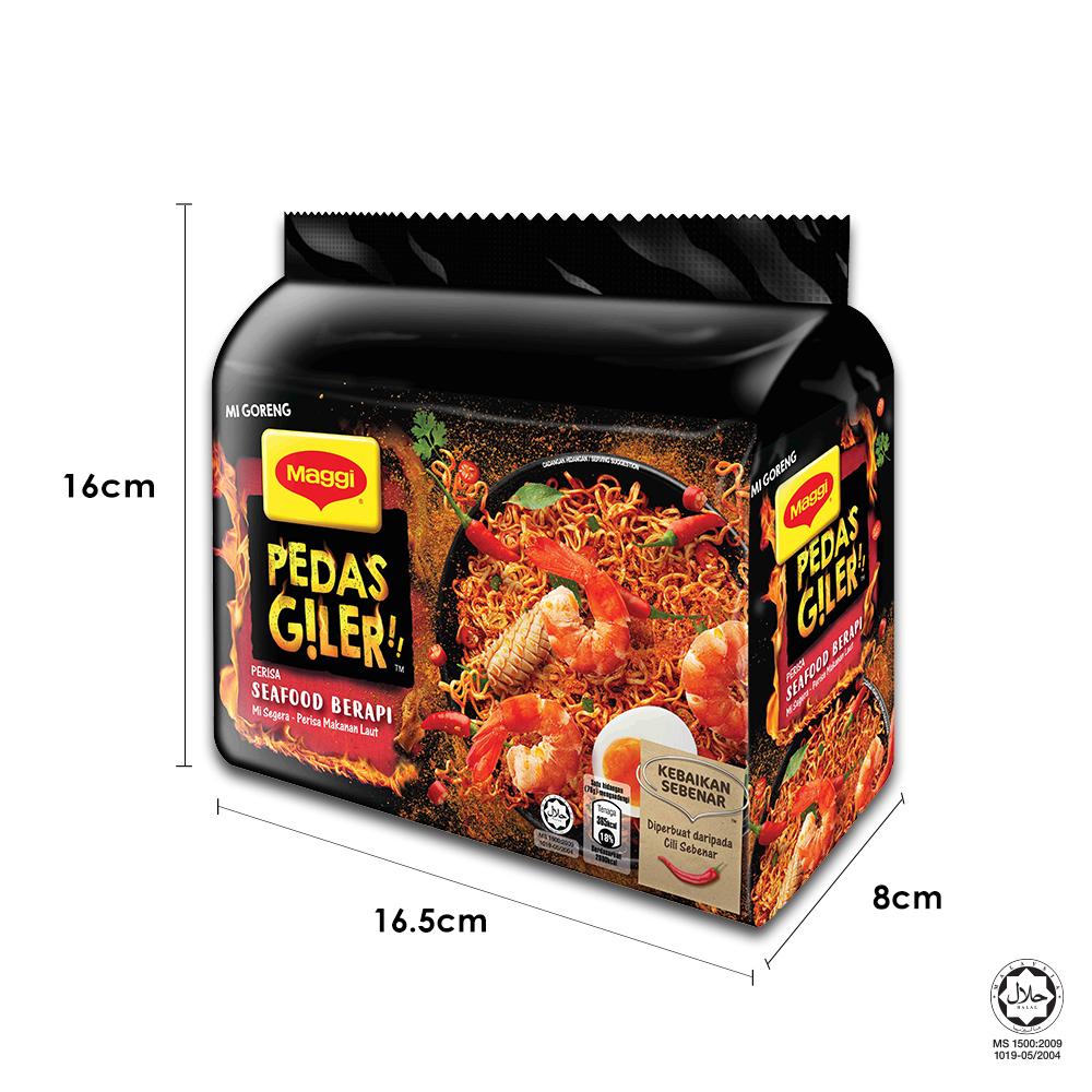 Nestle MAGGI Pedas Giler FlamingSeafood, 76g ExpDate:DEC20