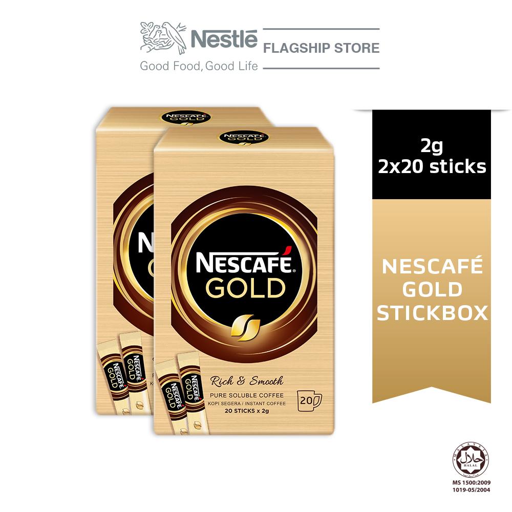 NESCAFE GOLD Stickbox 20stick x 2g Bundle of 2