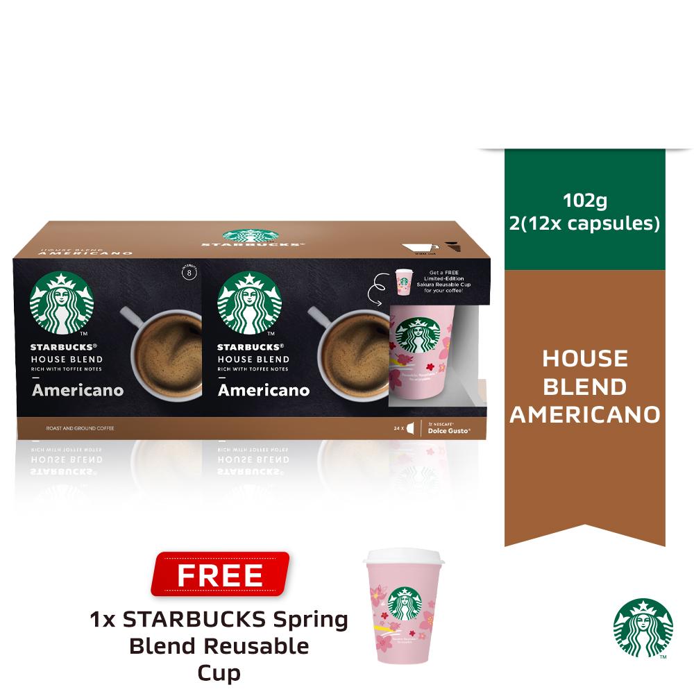 STARBUCKS House Blend Americano Free STARBUCKS Reuse Cup Set 2x102g