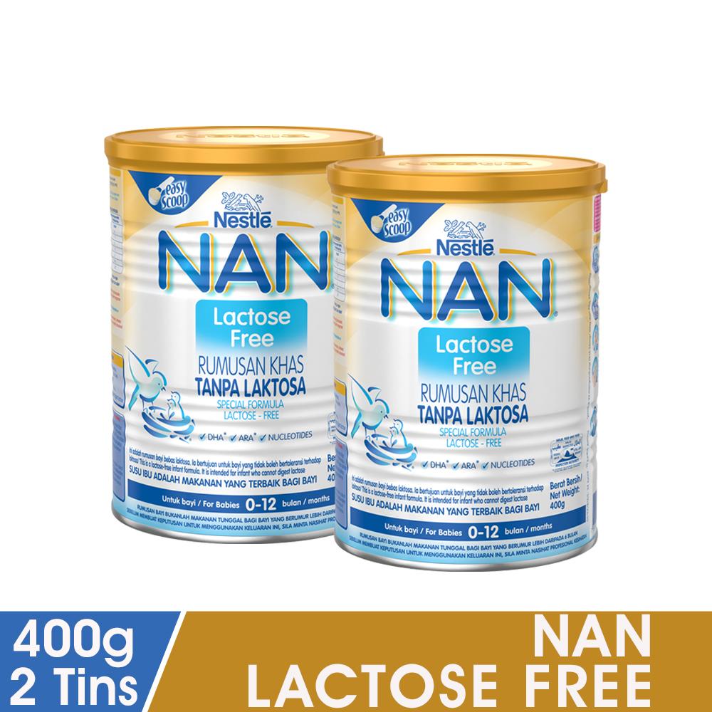 NAN Lactose Free 400g, Bundle of 2