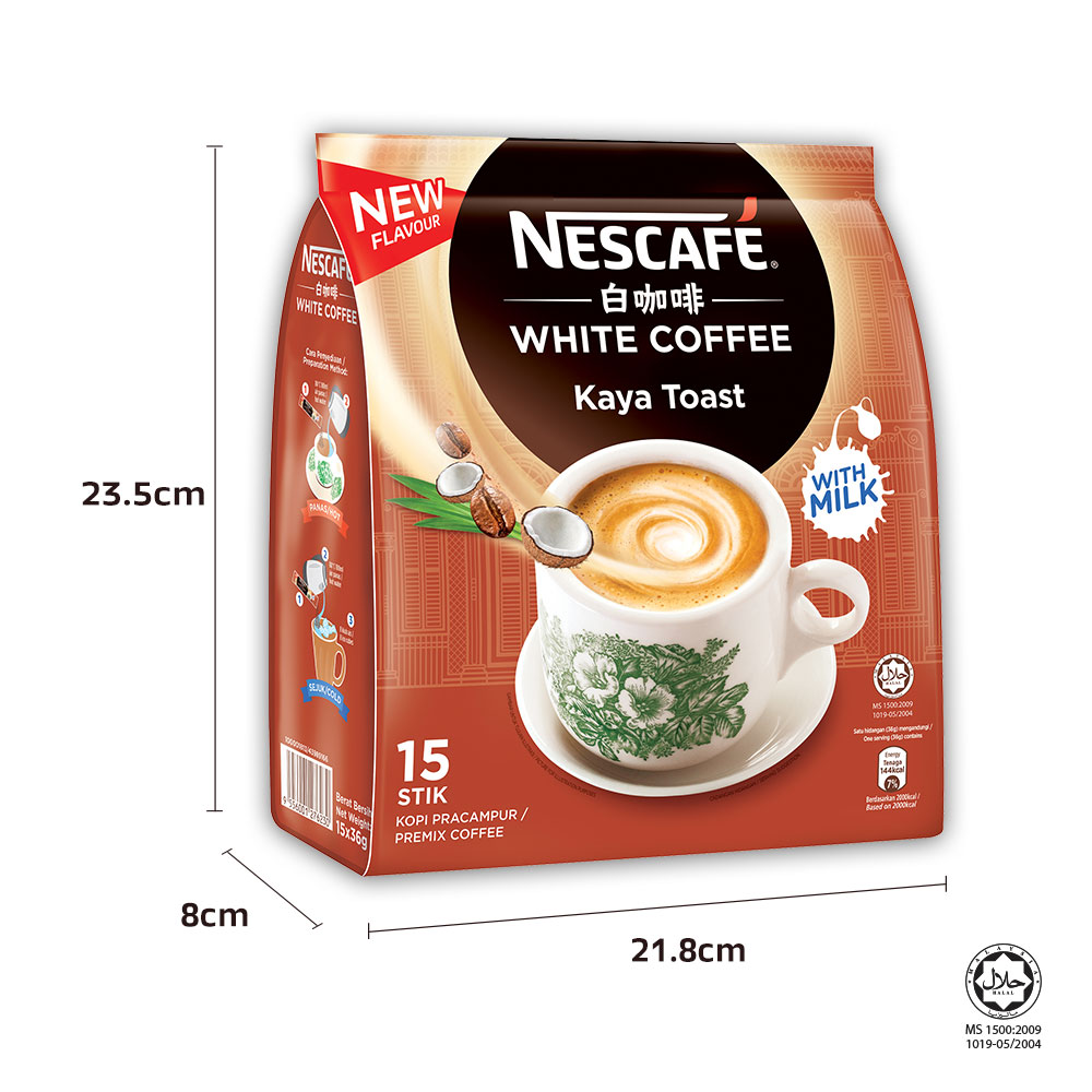 NESCAFÉ White Coffee Kaya Toast 15 Sticks 36g Each