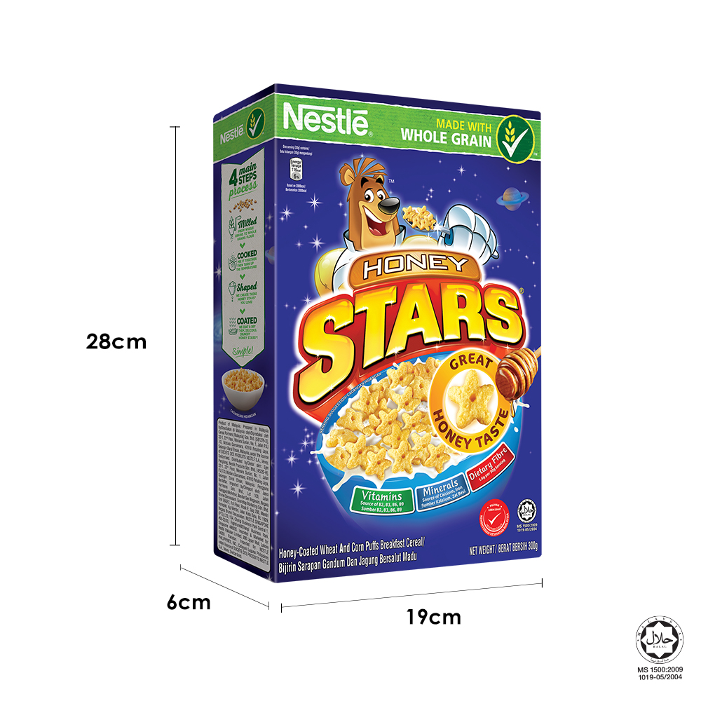 NESTLE HONEY STARS Cereal Large Box (300g x 2 boxes)