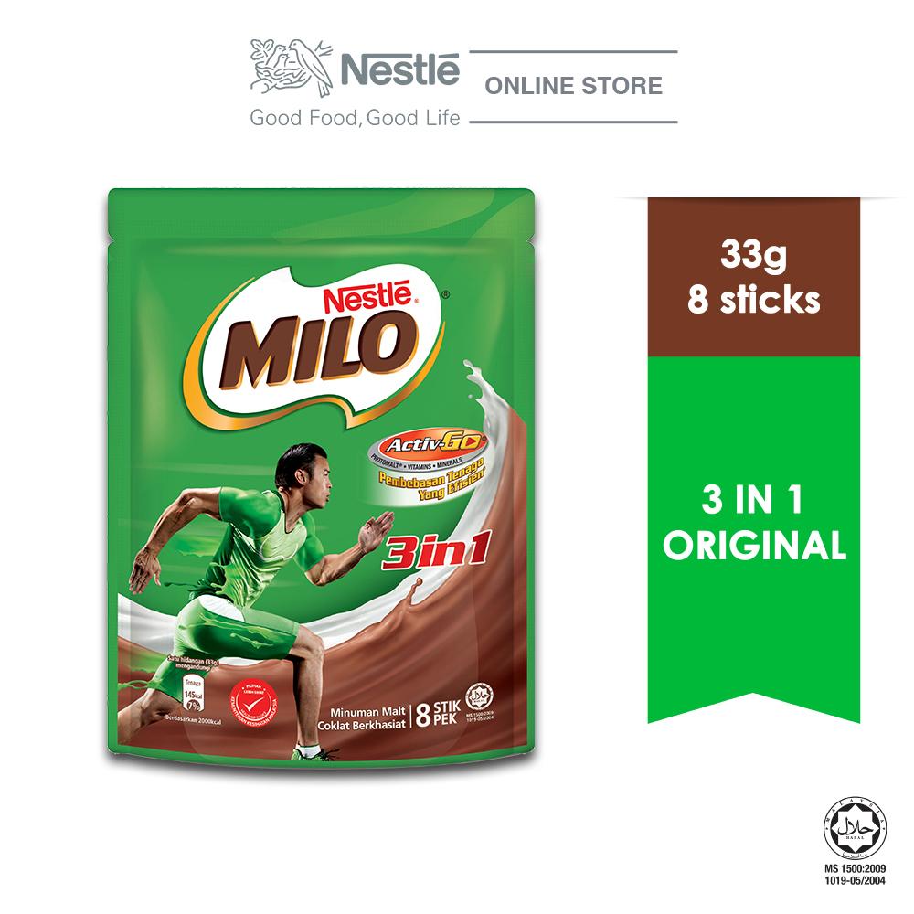 NESTLE MILO 3IN1 ACTIV-GO 8 Sticks 33g