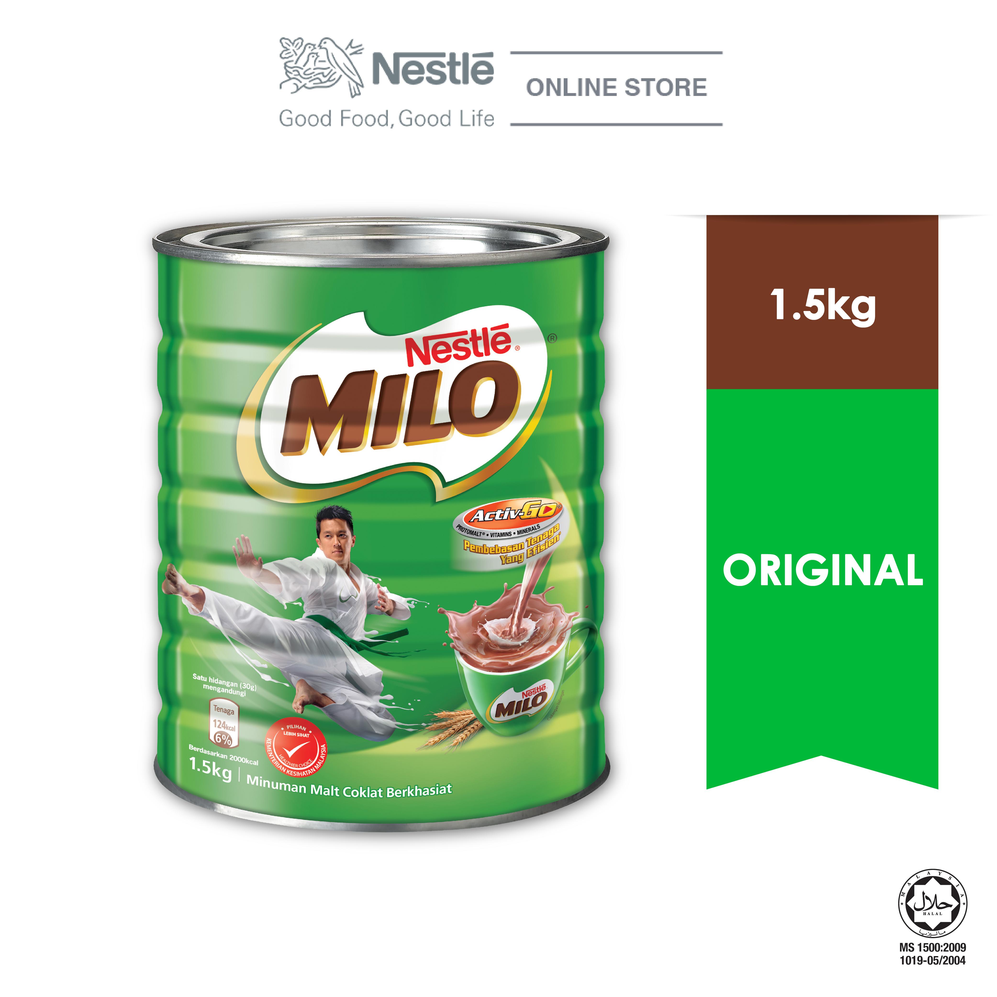 NESTLÉ MILO ACTIV-GO CHOCOLATE MALT POWDER Tin 1.5kg