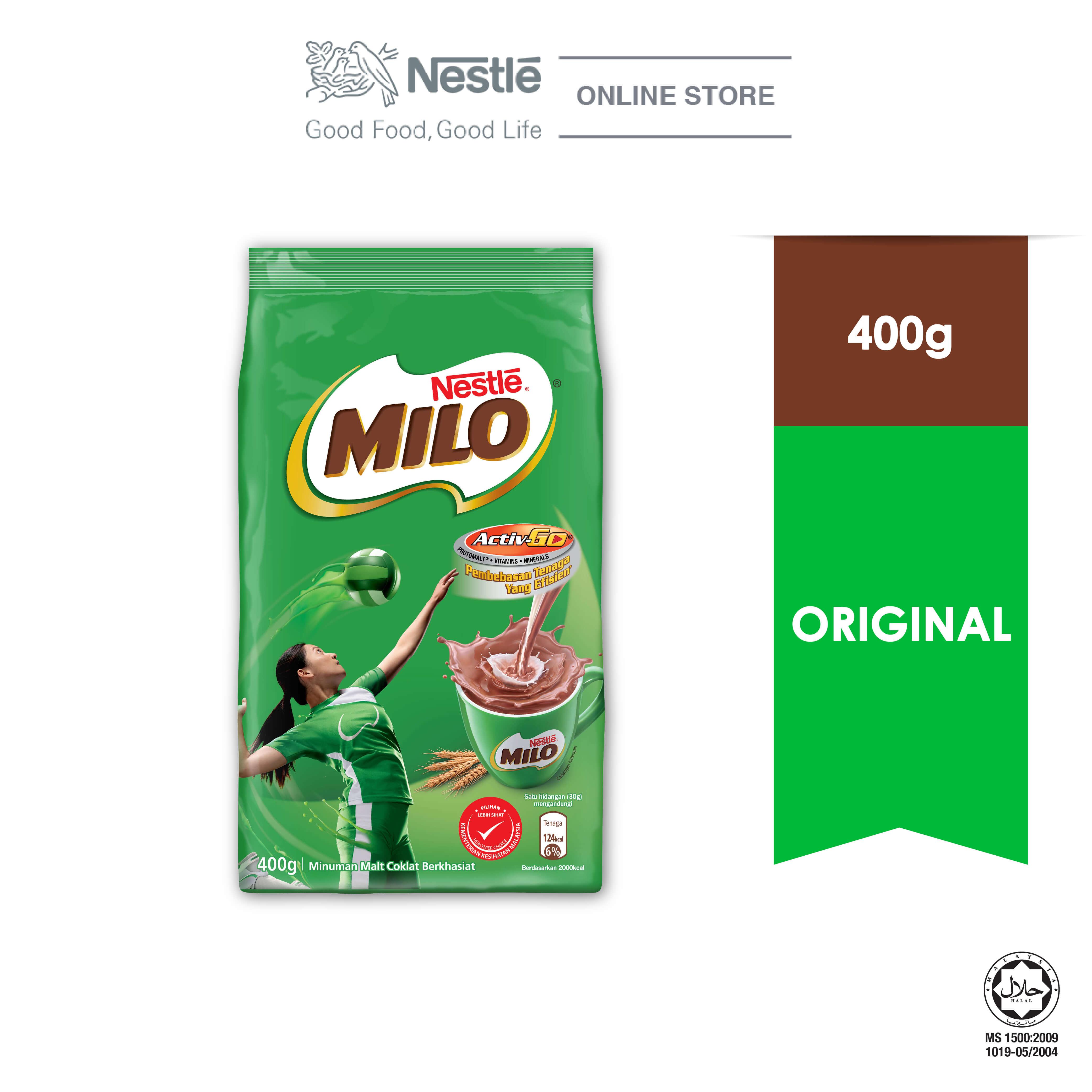 NESTLÉ MILO ACTIV-GO CHOCOLATE MALT POWDER Soft Pack 400g