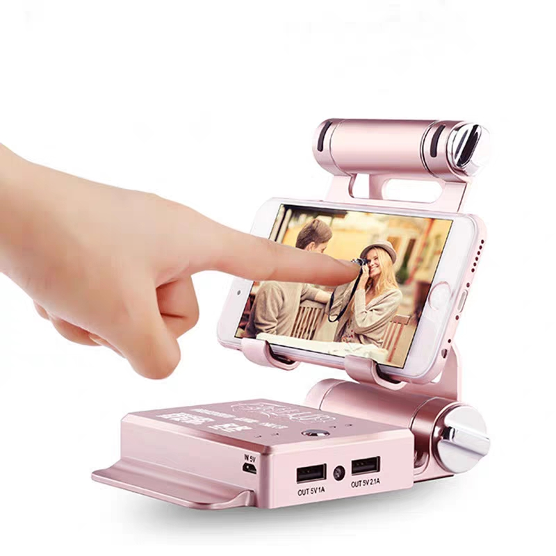 Multifunctional 2 in 1 10400mAh Charging Po Mobile Phone Stand Power Bank
