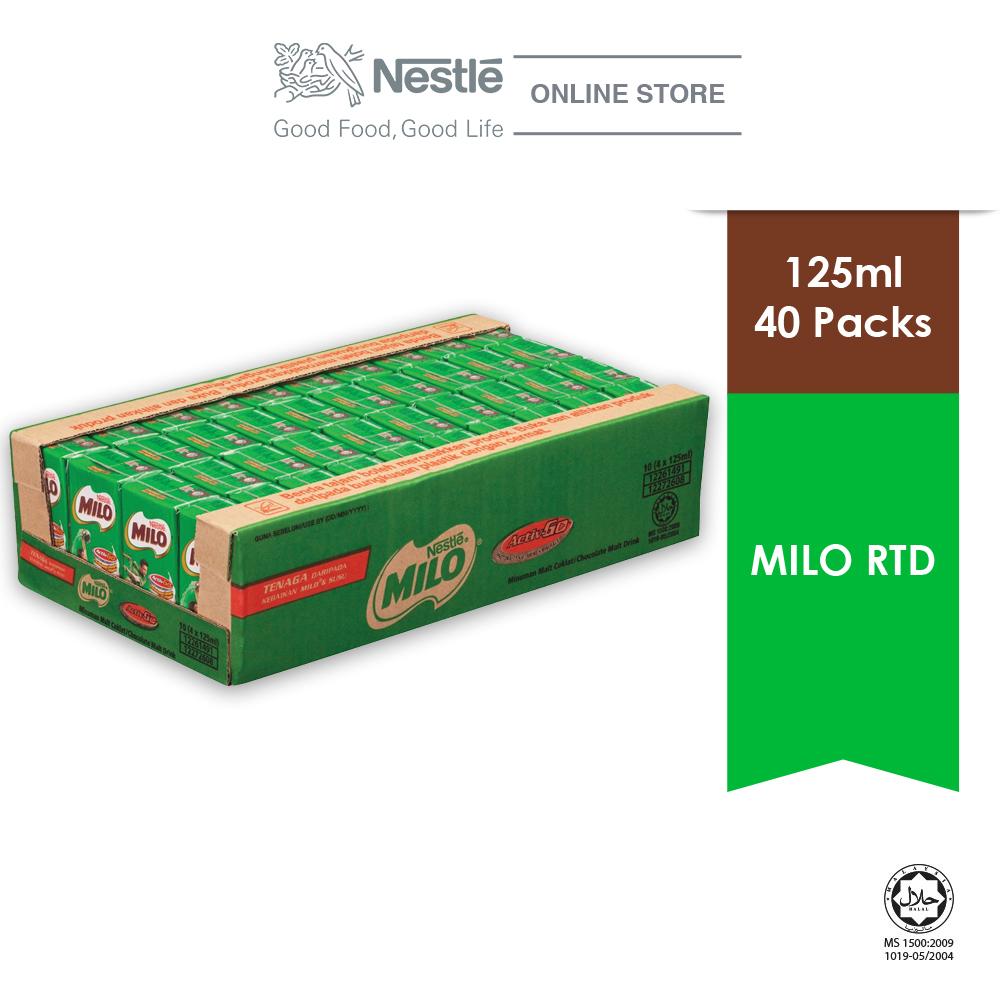 MILO ACTIV-GO Chocolate Malt RTD 40 Packs, 125ml Each