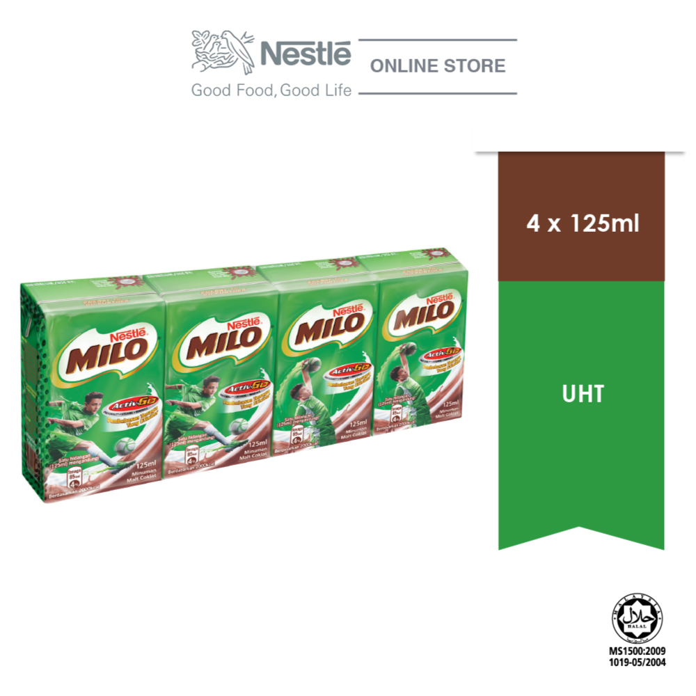 MILO ACTIV-GO Chocolate Malt RTD 4 Packs 125ml